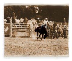 Helluva Rodeo-the Ride 2 Fleece Blanket