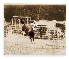 Helluva Rodeo-the Ride 3 Fleece Blanket