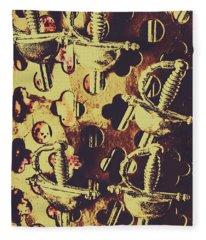 Helm Of Antique War Fleece Blanket