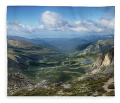 Helms Lake Valley 2 Fleece Blanket