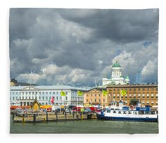 Helsinki, South Harbor Fleece Blanket
