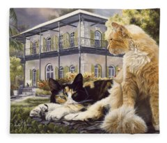 Hemingway House Fleece Blanket