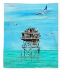 Hemingway Stilt House Fleece Blanket