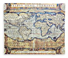 Hemisphere World  Fleece Blanket