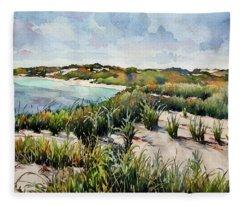 Henlopen Dunes Fleece Blanket