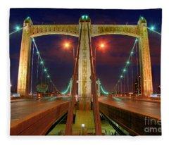 Hennepin Avenue Bridge Minneapolis Fleece Blanket