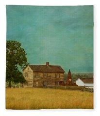 Henry House At Manassas Battlefield Park Fleece Blanket