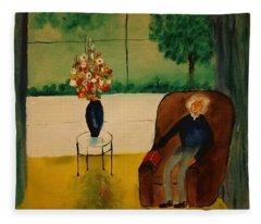 Henry Thoreau Fleece Blanket