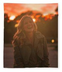 Her Laugh Fleece Blanket
