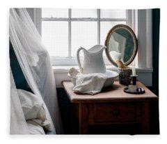 Her Nightstand - Antique Bedroom Fleece Blanket