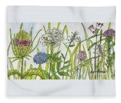 Herbs And Flowers Fleece Blanket