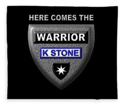 Here Comes The Warrior Fleece Blanket