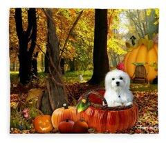 Hermes And Pumpkins Fleece Blanket