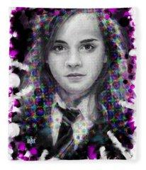 Hermione Granger Halftone Portrait Fleece Blanket