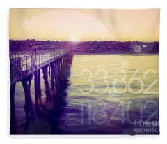 Hermosa Beach California Fleece Blanket