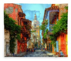 Heroic City, Cartagena De Indias Colombia Fleece Blanket