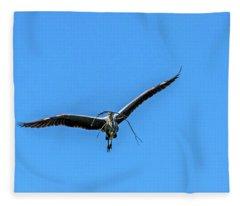 Heron Flight Fleece Blanket
