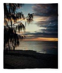 Heron Island Sunset  Fleece Blanket