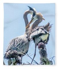 Heron Meetup Fleece Blanket
