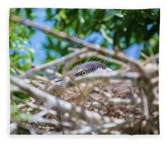 Heron Nest Fleece Blanket
