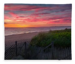 Herring Cove Beach Sunset Fleece Blanket