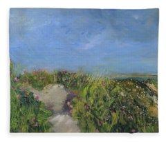 Herring Cove Flowering Dune Fleece Blanket