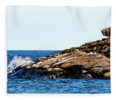 Herring Gull Picnic Fleece Blanket