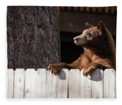 Hey There Neighbor By Brad Scott Fleece Blanket