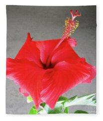 Hibiscus #1 Fleece Blanket