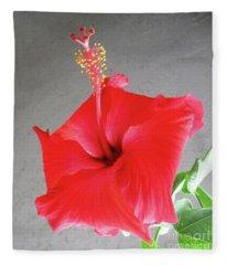 Hibiscus #2 Fleece Blanket