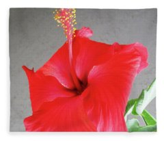 Hibiscus #2 Fleece Blanket