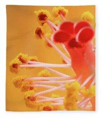 Hibiscus-2 Fleece Blanket