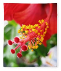 Hibiscus #3 Fleece Blanket