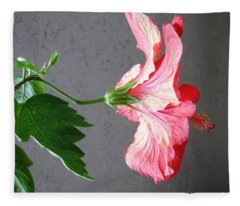 Hibiscus #4 Fleece Blanket