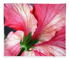 Hibiscus #5 Fleece Blanket