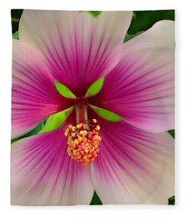 Hibiscus Face Fleece Blanket