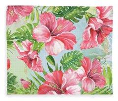 Hibiscus Paradise-jp3966 Fleece Blanket