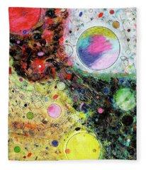 Fleece Blanket featuring the mixed media Hidden Aliens by Michael Lucarelli
