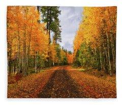 Hidden Paths Fleece Blanket