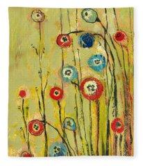 Hidden Poppies Fleece Blanket