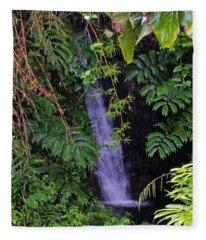 Small Hidden Waterfall  Fleece Blanket
