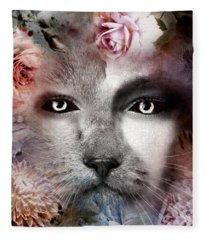 Hiding Catlady Fleece Blanket