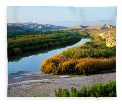 High Angle View Of Rio Grande Flood Fleece Blanket