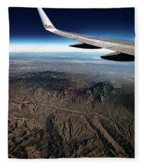 High Desert From High Above Fleece Blanket