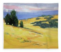 High Desert Horizon Fleece Blanket