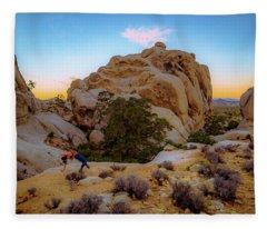 High Desert Pose Fleece Blanket