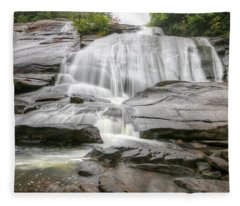 High Falls Of Dupont State Forest Fleece Blanket