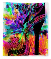 High Heel Heaven Abstract Fleece Blanket