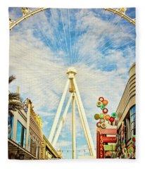 High Roller Wheel, Las Vegas Fleece Blanket