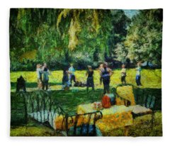 High Tea Tai Chi Fleece Blanket